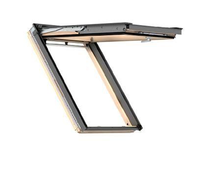 okno dachowe velux gpl 3050 drewniane klapowo obrotowe thermotechnology. Black Bedroom Furniture Sets. Home Design Ideas