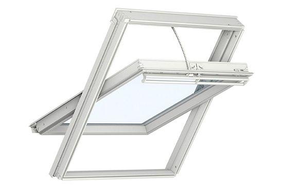 okno dachowe velux ggu 006021 integra drewniano poliuretanowe obrotowe szyba bezpieczna. Black Bedroom Furniture Sets. Home Design Ideas